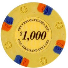 $1000 Yellow Lucky Casino 13.5 Gram - 100 Poker Chips