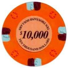 $10000 Orange Lucky Casino 13.5 Gram - 100 Poker Chips
