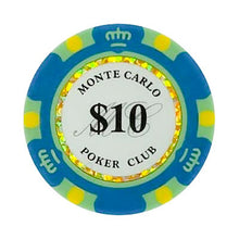 $10 Dollar Monte Carlo Smooth 14 Gram Poker Chips