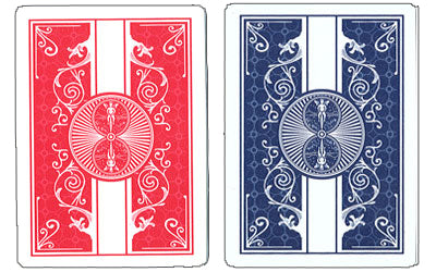 Bicycle Prestige Red Blue 100% Plastic Playing Cards Poker Size Standard Index