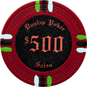 1500 Custom Inlay 13.5 Gram Claysmith Poker Chips