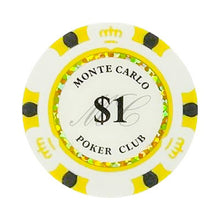 $1 One Dollar Monte Carlo Smooth 14 Gram Poker Chips