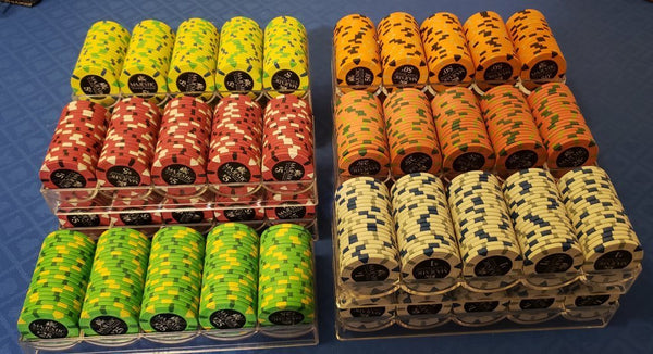 200 Card Room Pure Clay Poker Chips Bulk