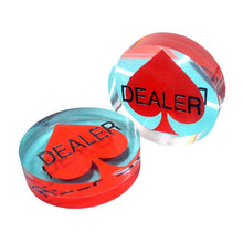 "Over Size Acrylic 3"" Poker Dealer Button"