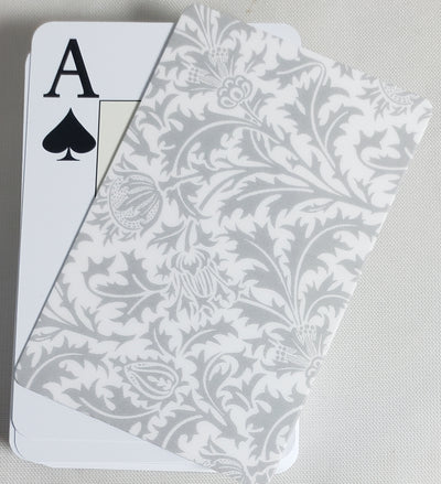 White Formal Design Stiff Cut Cards Poker Wide Size (2 PCS)