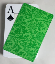 Green Formal Design Stiff Cut Cards Poker Wide Size (2 PCS)