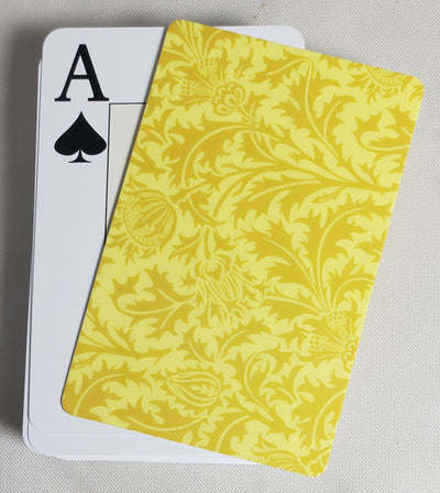 Yellow Formal Design Stiff Cut Cards Poker Wide Size (2 PCS)