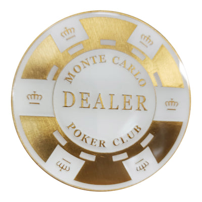 Monte Carlo Elegant Matching Poker Metal Dealer Button