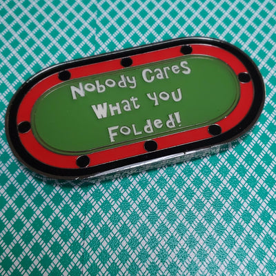Nobody Cares What You Folded! Double Sided Poker Card Guard