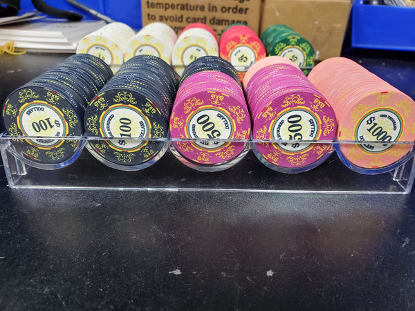 $1000 Classic Ceramic 10 Gram - 100 Poker Chips