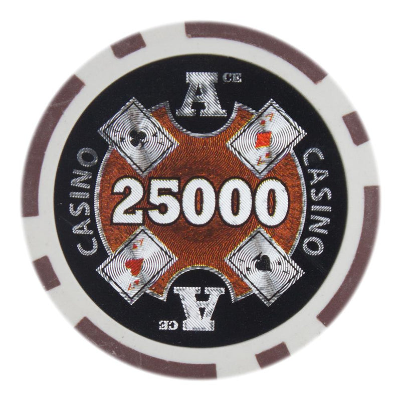 $25,000 Twenty Five Thousand Dollar Ace Casino 14 Gram - 100 Poker Chips