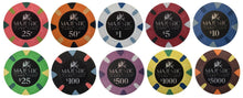 25 Card Room Pure Clay Poker Chips Bulk
