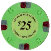 $25 Green Lucky Casino 13.5 Gram - 100 Poker Chips