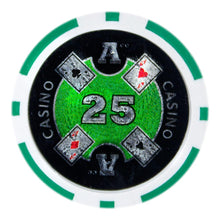 $25 Twenty Five Dollar Ace Casino 14 Gram - 100 Poker Chips