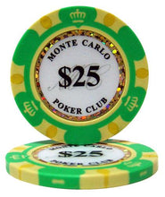 $25 Twenty Five Dollar Monte Carlo 14 Gram - 100 Poker Chips