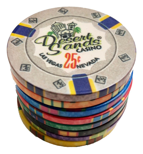 300 Desert Sands 10 Gram Ceramic Poker Chips Bulk
