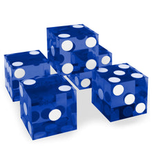 Blue 19MM Precision Razor Edge Serialized Set of 5 Casino Craps Dice