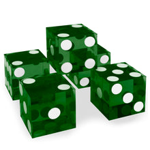Green 19MM Precision Razor Edge Serialized Set of 5 Casino Craps Dice