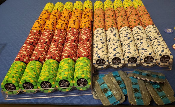 400 Card Room Pure Clay Poker Chips Bulk