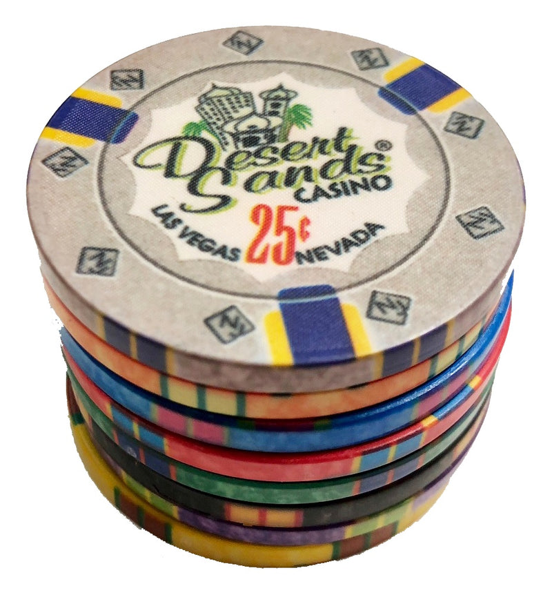 400 Desert Sands 10 Gram Ceramic Poker Chips Bulk