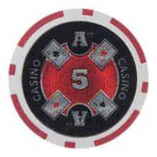 $5 Five Dollar Ace Casino 14 Gram - 100 Poker Chips