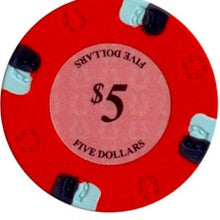 $5 Red Lucky Casino 13.5 Gram - 100 Poker Chips