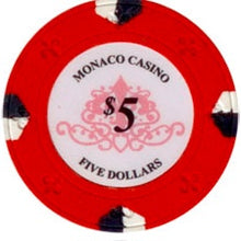 $5 Red Lucky Monaco Casino 13.5 Gram - 100 Poker Chips