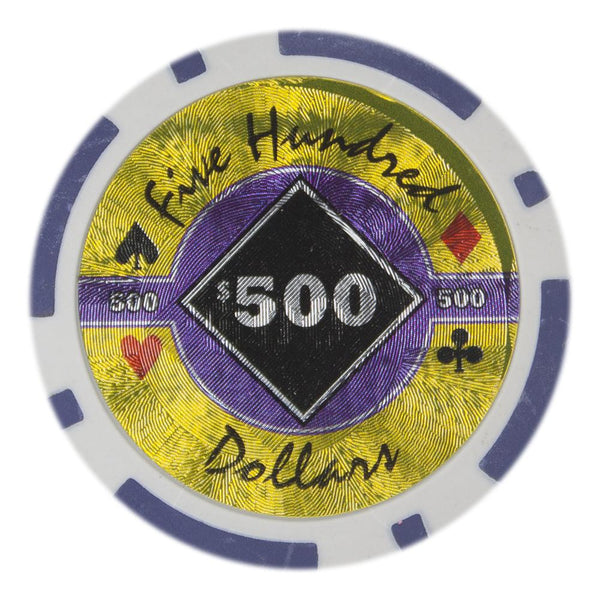 $500 Five Hundred Dollar Black Diamond 14 Gram - 100 Poker Chips
