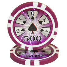 $500 Five Hundred Dollar High Roller 14 Gram - 100 Poker Chips