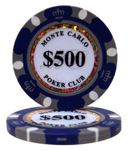$500 Five Hundred Dollar Monte Carlo 14 Gram - 100 Poker Chips