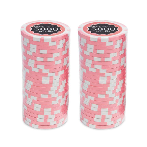 $5000 Five Thousand Dollar Eclipse 14 Gram - 100 Poker Chips