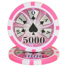 $5000 Five Thousand Dollar High Roller 14 Gram - 100 Poker Chips