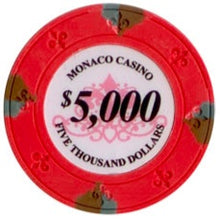 $5000 Pink Lucky Monaco Casino 13.5 Gram - 100 Poker Chips