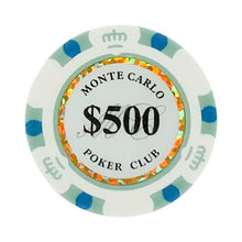 $500 Five Hundred Dollar Monte Carlo Smooth 14 Gram Poker Chips