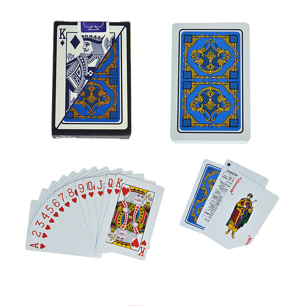 Classic 100% Plastic Playing Cards Bridge Size Standard Index - 2 Decks