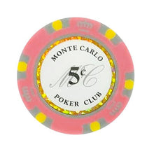 5 Cents Monte Carlo Smooth 14 Gram Poker Chips