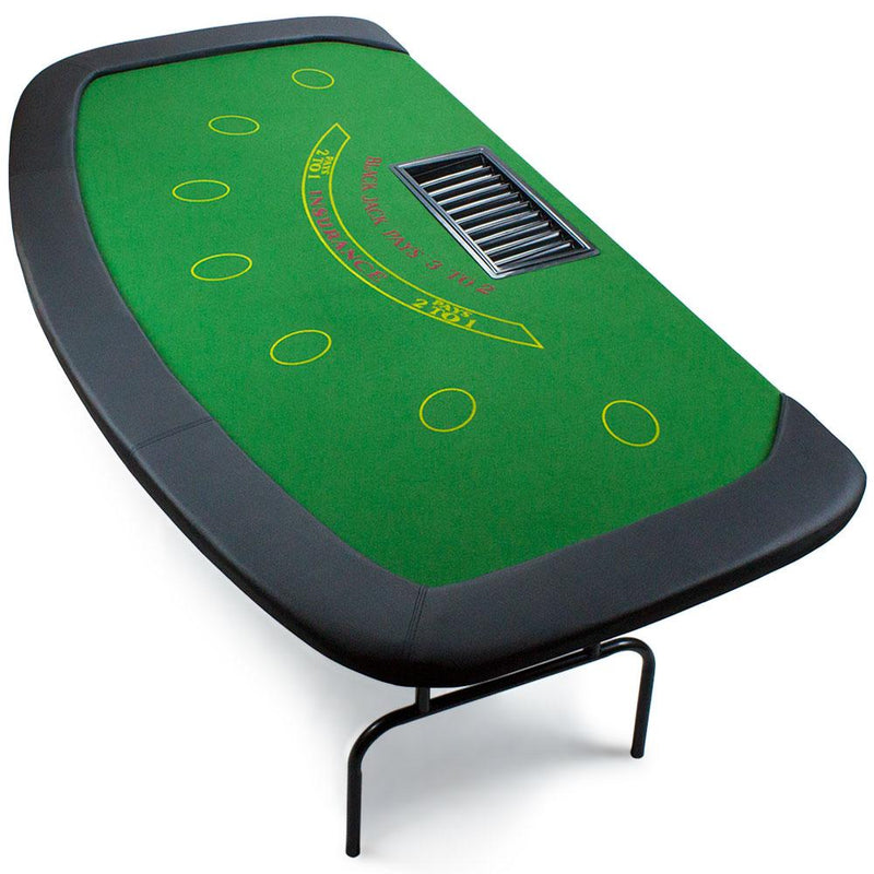 7 Player Blackjack Poker Table W Folding Legs