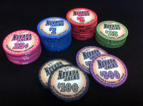 900 Nevada Jack Saloon 10 Gram Ceramic Poker Chips Bulk
