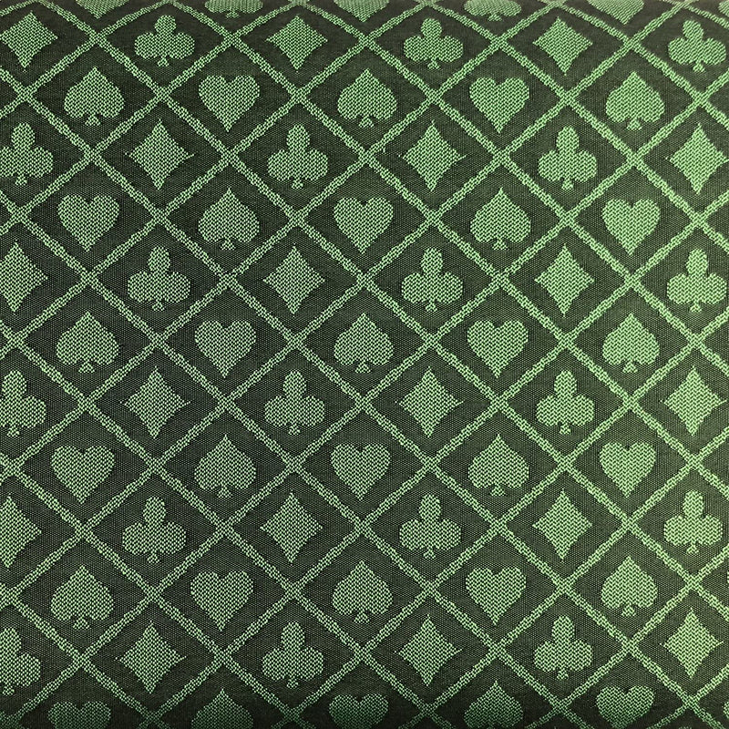 Green Two-Tone Suited Speed Cloth 100% Polyester Poker Table Felt 120x60
