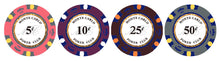 Lower Denomination Monte Carlo Smooth 14 Gram Poker Chips - 100 PCS