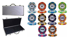 500 Monte Carlo 14 Gram Poker Chips Set with Expendable Aluminum Case
