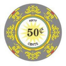50 Cents Classic Ceramic 10 Gram - 100 Poker Chips