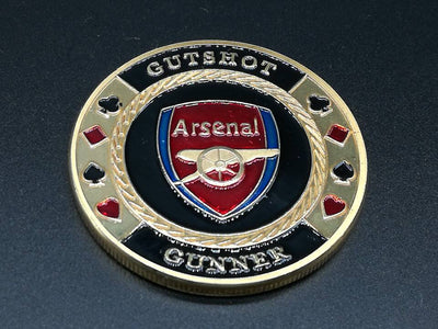 Arsenal Gut Shot Gunner Poker Card Guard