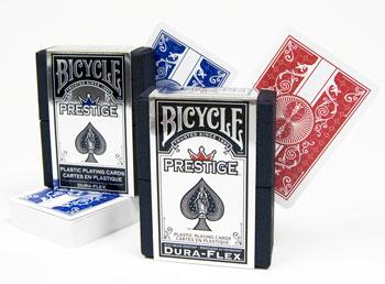 Bicycle Prestige 100% Plastic Playing Cards Poker Size Standard Index 2 Decks