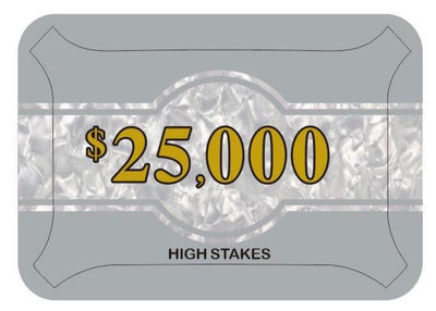 High Stakes $25,000 Poker Plaque