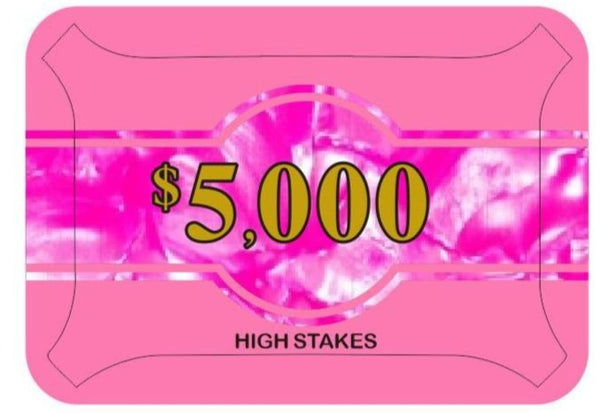 High Stakes $5,000 Poker Plaque