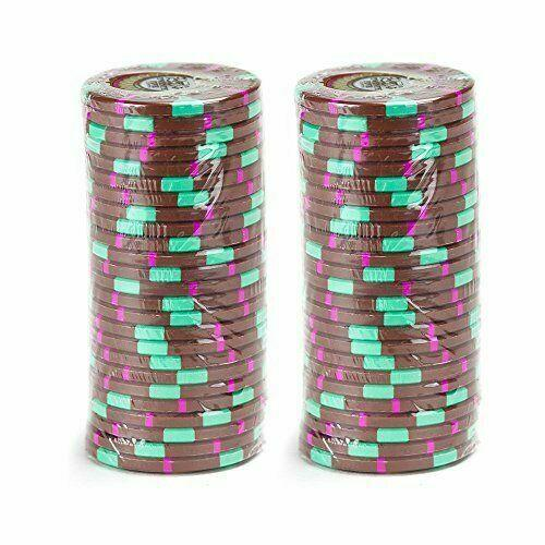 Card Guard - $0.25 Cent Brown Claysmith The Mint 13.5 Gram - 100 Poker Chips
