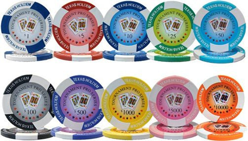 1000 Tournament Pro 11.5 Gram Poker Chips Set with Aluminum Case - The Poker Store .Com