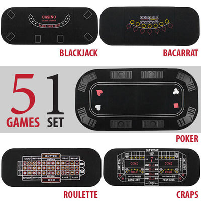 5 in 1 Casino Table Top - The Poker Store .Com