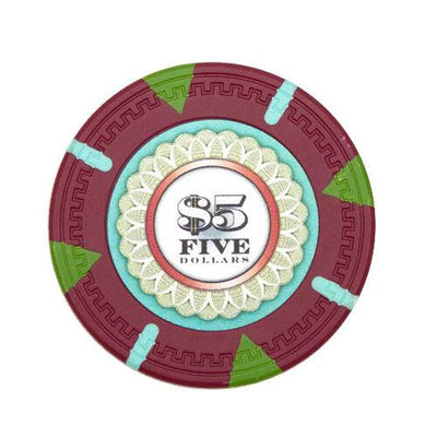 Card Guard - $5 Red Claysmith The Mint 13.5 Gram - 100 Poker Chips